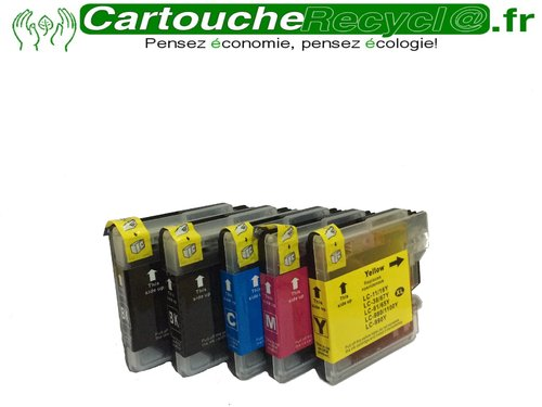 Pack LC980 / LC1100 x 5 cartouche
