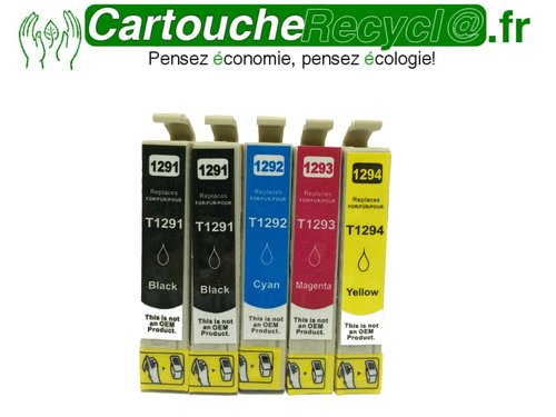 Pack T1295 x 5 cartouches